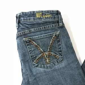 KUT Jeans Blue Bootcut Stretch Size 6